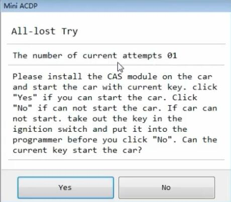 yanhua mini acdp program bmw cas3 all keys lost 11