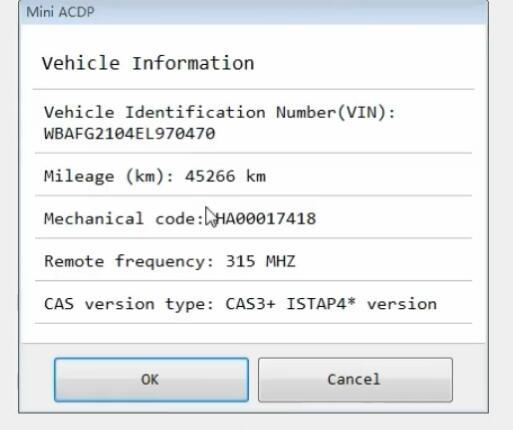 yanhua mini acdp program bmw cas3 all keys lost 4