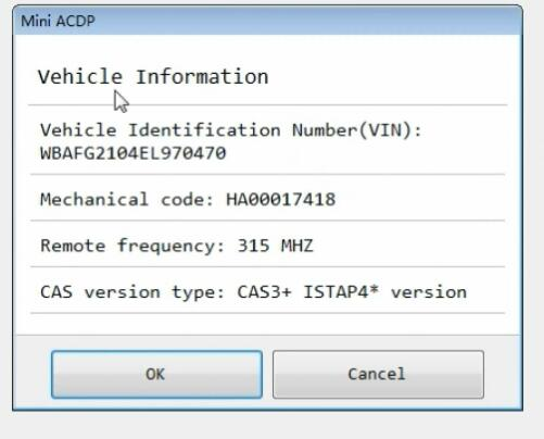 yanhua mini acdp program bmw cas3 all keys lost 8