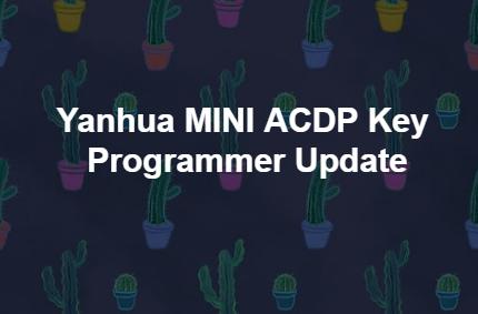 MINI ACDP UPDATE