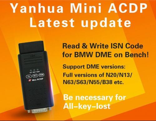 MINI ACDP added BMW ECU clone