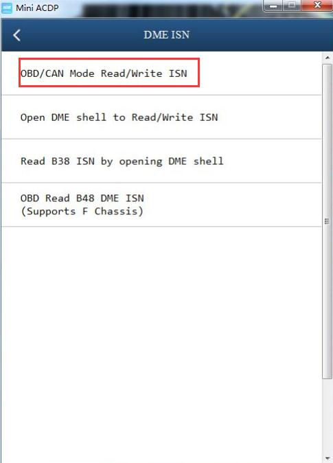 mini acdp read msv80 isn error solution 5