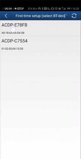 mini acdp cannot bind on android phone 6