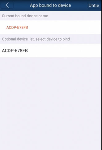 mini acdp cannot bind on android phone 8