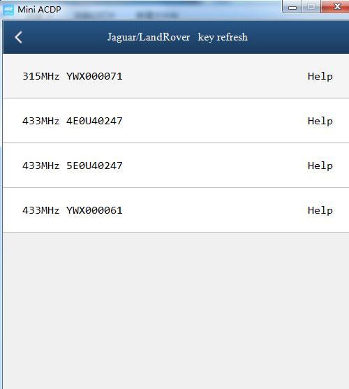 mini acdp recognize landrover jaguar key type 1